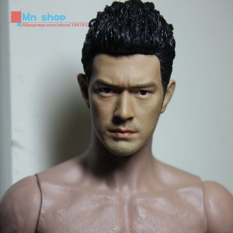 1:6 Action Figure Accessory Custom 1/6 Soldier Takeshi Kaneshiro Head Sculpt Headplay Head Carving for 12 Figure Doll Toys<br>