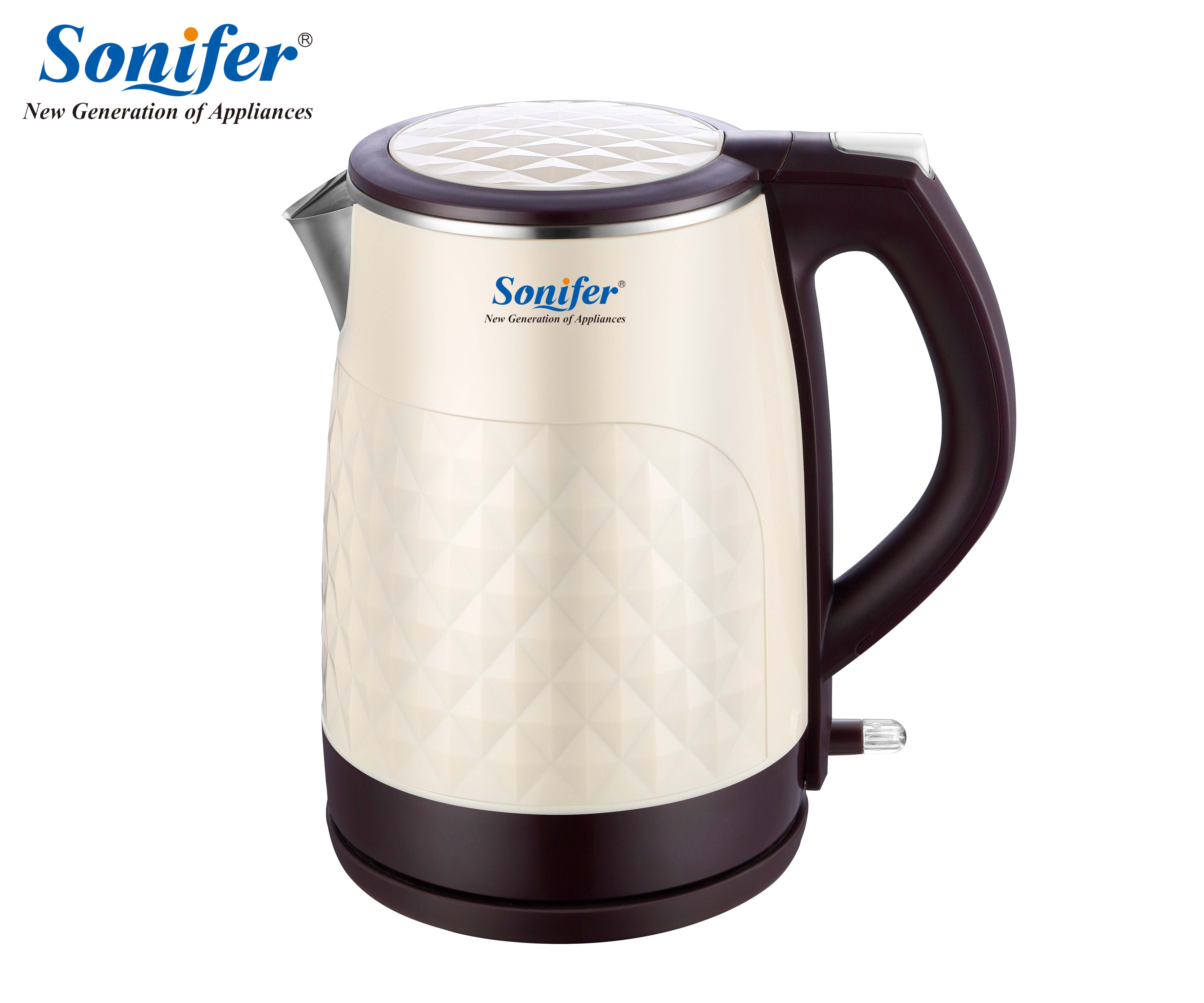 1.8L 304 stainless steel Electric Kettle 1850W Household Quick Heating Electric Boiling Pot Sonifer<br>