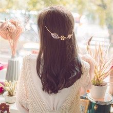 Hollow Tree Leaves Branch Hair Pin Clip For Hair Tiara Headdress Fashion Plated Gold Claws Head Chain Boho Women Girls Jewelry