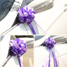 10pcs 1.5m *5cm Organza Pull Bows Ribbon Wedding Centerpieces Wedding Car Decoration Gift Packaging Packing Wrap 9 Colours DIY