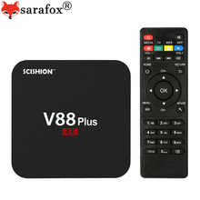 V88 Plus Android Smart TV Box 4K HDMI 2G 8G WiFi H.265 Miracast Mini Media Player RK3229 Quad Core KODI 16.1 Set top Box