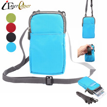 iEverCover Waterproof Nylon Pouch Case for Evolveo StrongPhone G4 Q5 D2 Q9 Q8 LTE Phone Wallet Cover Waist Bag / Should-bag(China)