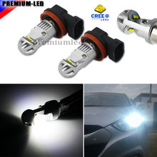 iJDM H11 LED Super Bright 6000K Xenon White XB-D H8 H11 H9 H16(JP) LED Replacement Bulbs For Fog Light Driving Lamps(China)
