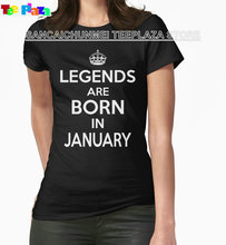 Teeplaza  Great T Shirts Short Women Legends Are Born In January Short-Sleeve Tee