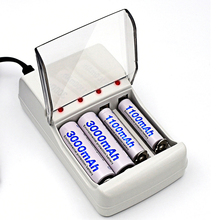 Intelligent EU/US Plus 4 Slots Ni-MH Ni-CD Battery Charger For AAA AA Rechargeable Battery Charger S0I27 T16