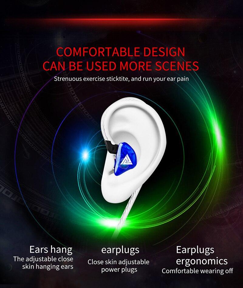 QKZ CK5 Earphone Sport Earbuds Stereo For Apple Xiaomi Samsung Music Cell Phone Running Earphone dj With HD Mic fone de ouvido