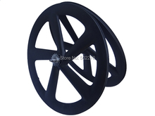 WS-CW55  :  Carbon Glossy Cycling Road Bike Five spokes Clincher Wheelset 65mm 700C Bicycle Wheel Rim