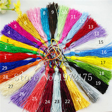 Bookmark invitation card diy chinese knot Small silk tassel calendar candy curtain tassel fringe  silky tassels