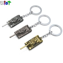 STG Game World of Tanks Keychains WOT Alloy Tank Model Metal Pendent Keyring Gift Key Chain Key Holder For Car Fans Souvenirs(China)