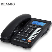 Handfree Redial Landline Phone With Call ID For Home Hotel Office Wired Telephone Without Battery White Black