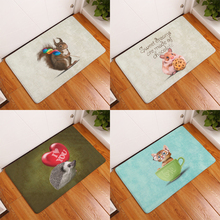 Homing New Arrival cute animal Fashion Rectangular Mats 40*60cm Entrance Doormats Washable Kitchen Floor Bathroom(China)