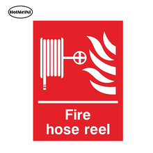 HotMeiNi Car Styling FIRE HOSE REEL Car Sticker for Fire Safety Box Door Room Caution Danger Waterproof Accessories 13cmx9.75cm(China)