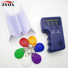 Handheld 125KHz EM4100 RFID Copier Writer Duplicator Programmer Reader + T5577 EM4305 Rewritable ID Keyfobs Tags Card T5577 5200