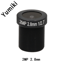 "Yumiki CCTV lens F2.0 M12*0.5 2.8mm 120degree CCTV Camera Board Lens for 1/3"" or 1/4"" ccd"