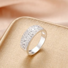 Latest Pure Authentic 925 Silver Ring Bling Bling Full CZ Cubic Zircon Rings For Woman Man Wedding Engagement Fashion Jewelry