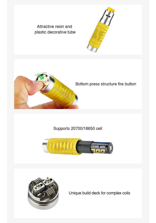 WISMEC Reuleaux RX Machina 20700 Mech MOD with Guillotine RDA Kit 3000mAh