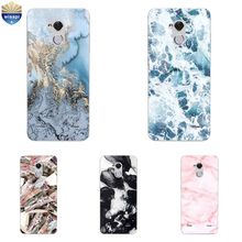 For ZTE Blade V7 Lite Phone Case For ZTE Axon 7 A2017 / 7 Mini Cover For ZTE Blade A1 C880U Shell TPU Marble Lines Design