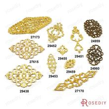 (24959)Brass Decorative Slice Spacers Flowers Shape Connector Charms Accessories More styles can picked(China)