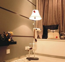 Floor Stand Lamps Decoration Lighting Fabric Animal Caton Spotted dog Children Floor Light living room Bedroom(China)