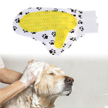 Pet Massage Bath Rubber Gloves Dog Hand Brush Soft Rubber Bath Brush Shower Grooming Comb Right Hand Pet Health Supplies