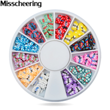 1 Pcs 3d Fimo Polymer Clay Nail Deocration Mix Design Butterfly Acrylic Nail Tips Supplies,DIY Phone Nail Accessories