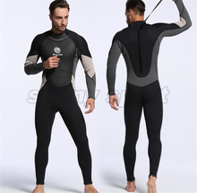New neoprene 3mm one-piece diving suit waterproof clothing warm wetsuit surfing suit Men's free diving suit(China)