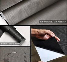 NEW black white wood adhesive PVC wallpaper Boeing film Refurbished ambry clothes cupboard door desktop furniture wall stickers