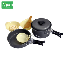 2 - 3 person Outdoor camping cookware tableware buzhanguo ultra-light portable supplies(China)