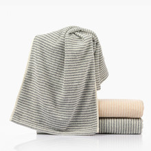 Japanese Simple and Elegant Cotton Simple Towel Stripes  Absorbent Hand Towel Couple Cleansing Towels
