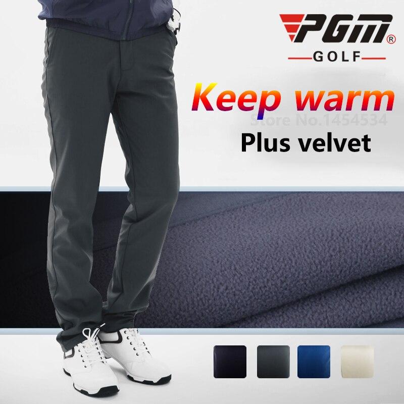 New High Quality Autumn Windproof Golf Trousers Men Winter Plus velvet Warm Long Slim Pant Vetements De Golf Pour Hommes Clothes<br>
