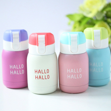 180ML So Cute Mini Vacuum Flask Coffee Thermos Child Cup Stainless Steel Vacuum Belly Cup Insulated Thermal Drink Bottle KC1315(China)