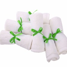 New 2017 - 6PC/Set Bamboo Baby Towel 25x25cm Face Towels Baby Care Wash Cloth Kids Hand Towel Bath Towel For Newborn Gift Box