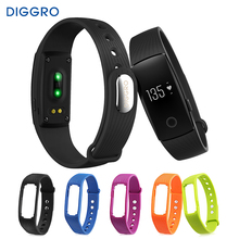 Diggro ID107 Remote Bluetooth Smart Bracelet Watch Heart Rate Monitor Smartband Fitness Tracker Wristband for Android iOS