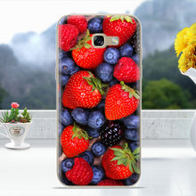 Capa Coque for Samsung A5 2017 Fruits Flower Tea fire Popsicles 3D Relief Silicone Case For Samsung Galaxy A5 (2017) cover