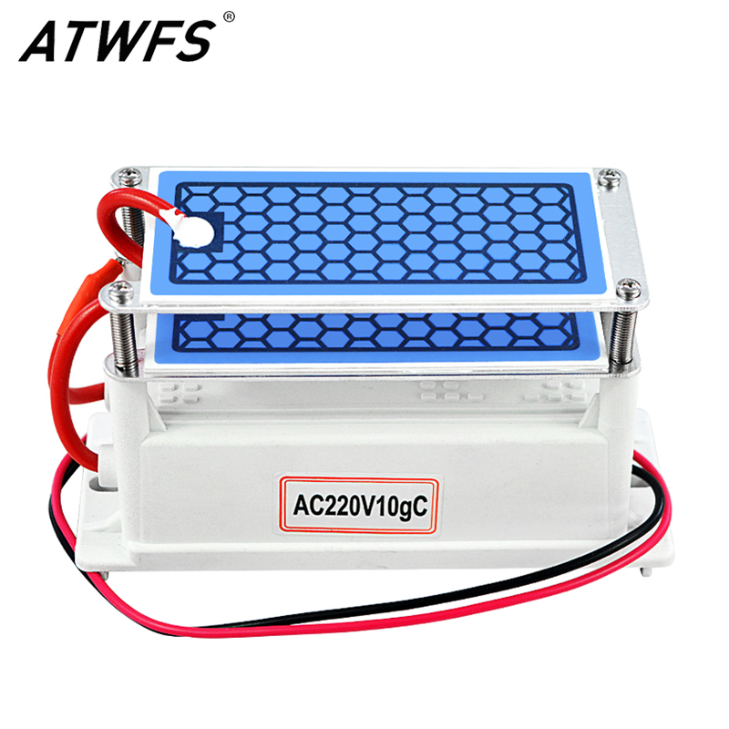 ATWFS Ozone Generator 220v 10g home Air Purifier Ozonizador Ozonator Air Cleaner Mini Ozon Generator Ozonizer Sterilization Odor(China)