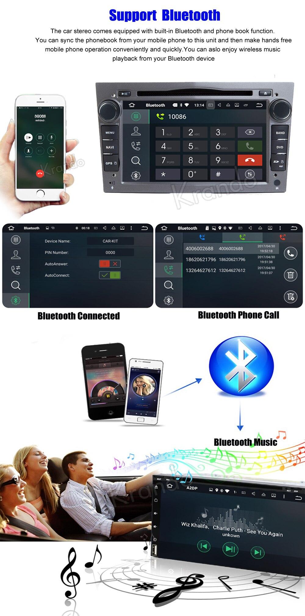 krando android car radio gps for opel universal blcak navigation multimedia system (4)