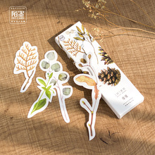 30pcs/lot Natural Plants Shape Bookmarks Gift Cards Cute Book Mark Paper School and Office Supplies Bookmark(China)
