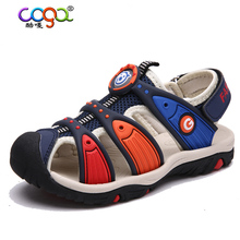 2017 Summer Kids Shoes Brand Closed Toe Toddler Boys Sandals Orthopedic Sport Pu Leather Baby Boys Sandals Shoes High Quality