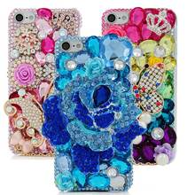 Colorful Diamond Butterfly Luxury Case For Apple iPod Touch 6 Bling Rhinestone 3D Crystal Hard Plastic Transparent Back Cover