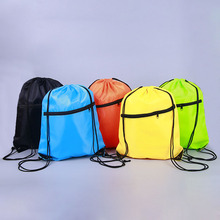 Buy 6 Colors Portable Waterproof Nylon Shoe Bags Drawstring Dust Basketball Backpacks Storage Pouch Outdoor Travel Storage Gym Bags for $1.99 in AliExpress store