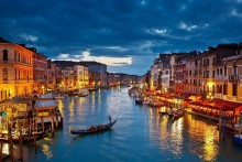 DIY Frame 5 PCS Choose Italy ,Venice city ,canals buildings Scenery art posters and print home decor Silk Fabric Poster Print