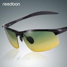 Reedoon óculos de Visão Noturna Óculos Polarizados Lente Amarela  Anti-Reflexo Moldura De Alumínio E Magnésio Óculos de Condução . 6a6c3a61af