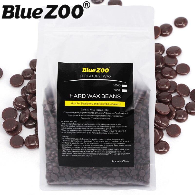 1000g/bag Hot Film Hard Wax Pellet Chocolate Pearl Wax Beads Waxing Painless No Wax Strips Hair Removal Depilatory Cream<br>