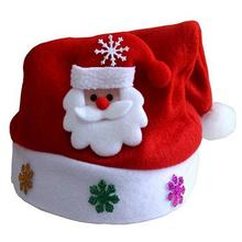 Traditional Red And White Christmas Santa Claus Hats For Kids Party Favors Decoration
