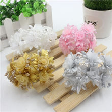 Simulation silk flower sand wedding dress decorated hair ornaments snow clouds hand 6 pcs(China)