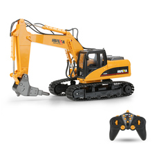 HUI NA TOYS NO.1560 2.4G 16CH RC Excavator Broken Disassemble Truck Engineering Vehicle Toys(China)