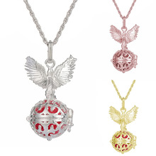 Pregnancy Necklace wish box Mexican Bola 16mm Harmony Ball fashion Wing bell Mother Lockets Jewelry(China)