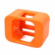 Cameras Accessories Durable Buoy Frame For Gopro hero 4/5 Session Sports Camera 7.5X5.5X 4 cm Orange