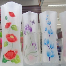 2pcs Many Styles Small Folding Vase And Beautiful Colors Home Decoration Plastic Flower Vase Random Color 9OEV3m