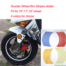"16+2 Stripes, 10""11""12""  wheel,Reflective Rim Stickers for Scooter only! 4 Colors,2pcs more 20%"